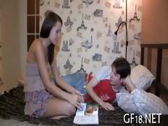 cute sweetheart spreads legs