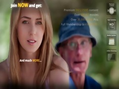 juvenile blonde hottie fucks hers grandpa