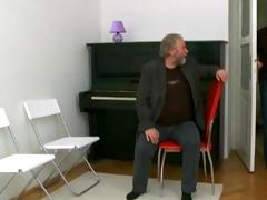 old piano teacher fucks his legal age teenager