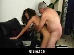 white haired grand-dad bonks horny stephanie