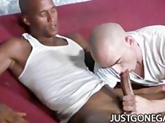 white stud worships big dark rod