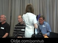 5 old geezers gang bang wide a nasty youthful