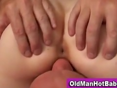 old guy bonks hot younger babe
