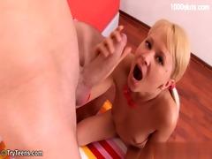 horny daughter tits cumshot
