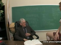 youthful slut will do everything to pass the class