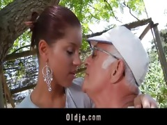 large penis oldman bonks his much younger sexy