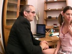 beautiful hottie is engulfing teacher\s pounder