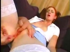young redhead cutie fucked by aged man