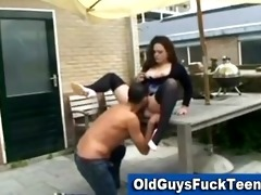 old guyfucks very hawt younger babe