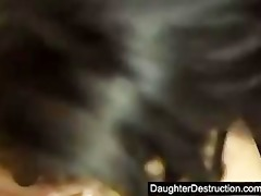 young daughter raw screwed in backseat