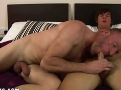 older boy tasting new sweet young cock for the