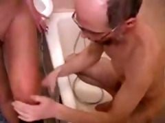 old granddad family sex with youthful daughter in