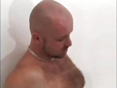 regular str8 dude works a curly twat