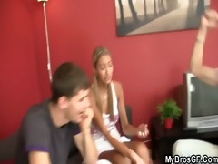 czech blond cutie cheats as her bf leaves