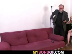 inexperienced gf is fucked by not her dad