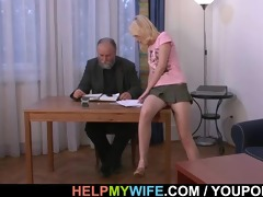 aged spouse pays him to fuck his wife