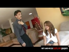 sexy allie haze gets punished by her step dad