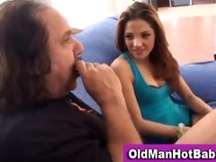 old chap oral-job by hawt younger chick