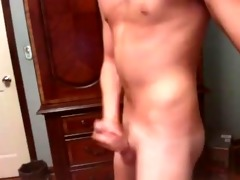hot vocal guy stroking with fleshlight webcam