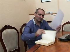 some lesson with elderly teacher