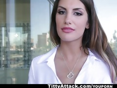 tittyattack - big titty brunette august ames!