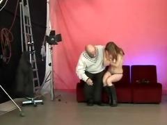 cute legal age teenager blows hirsute old man