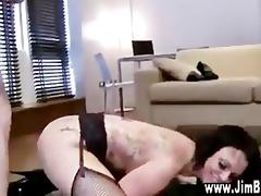 old man copulates busty slut