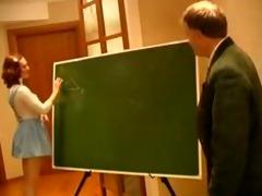 old teacher humiliated young redhead schoolgirl
