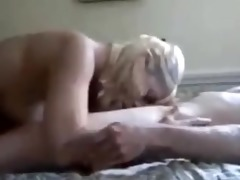 hot blonde getting fucked by a younger boy!