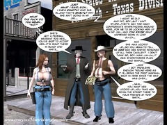 3d comic: six gun sisters. movie scene 5