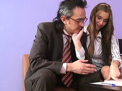 adorable anal invasion with teacher