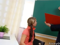 tricky old teacher - anna is a struggling student