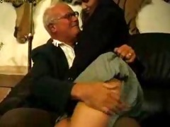 grand daddy and father punish their bad schoolgirl