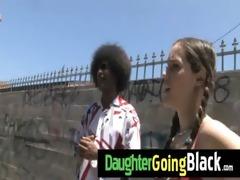 watch my daughter taking a hard dark ramrod 9