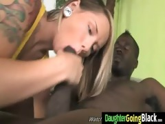 taut young legal age teenager takes big darksome