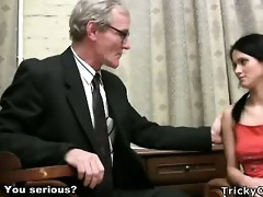 marvelous youthful student tempted by an old fart