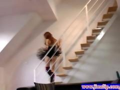 brunette amateur in underware plowed from behind