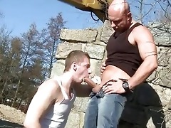 large dad fucks boy in the booty outdoor public