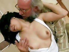 grandpapa copulates his youthful girlfriend