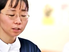 cute oriental nurse gets her tits rubbed part1